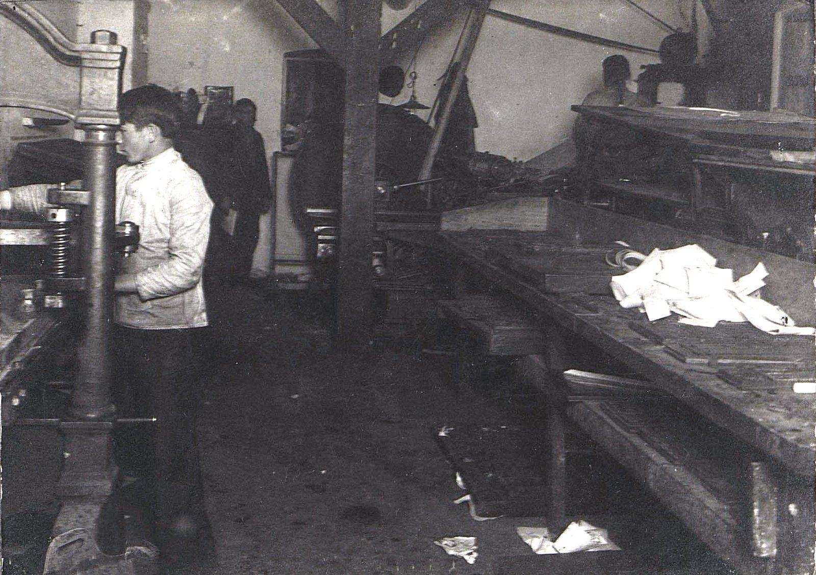 01. Рабочий момент в печатной мастерской
