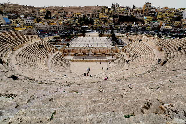 The Roman Theater in Amman, Jordan,  109