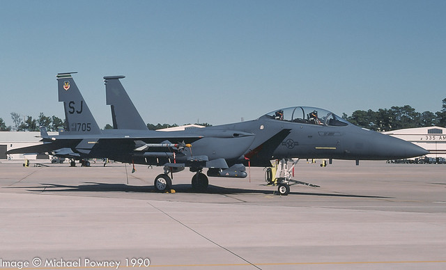 88-1705 - 1988 fiscal McDonnell Douglas F-15E Strike Eagle, at Seymour-Johnson AFB during the 1990 Community Appreciation Day