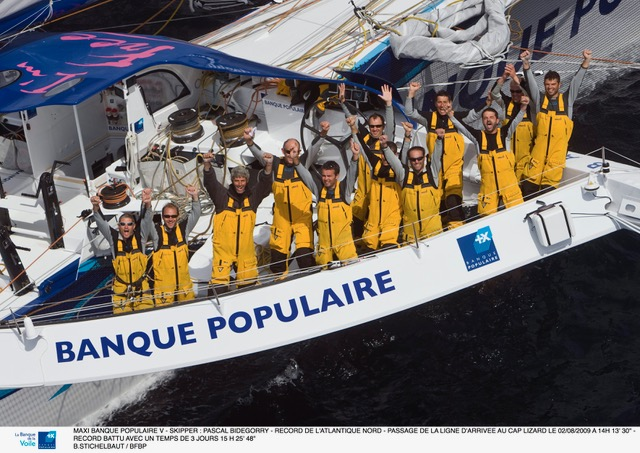 Record de la traversée de l'Atlantique Nord - 2009