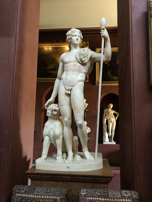 Statue of Bacchus and a panther