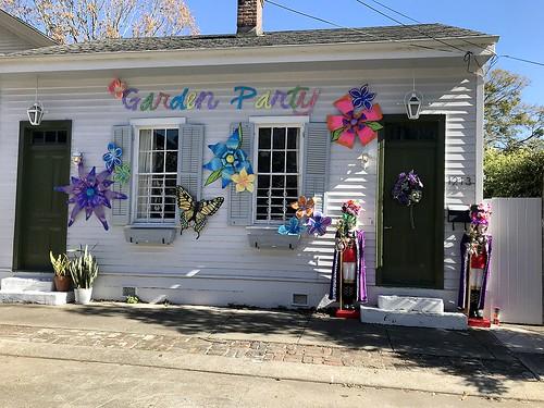 Mardi Gras house in the Garden District