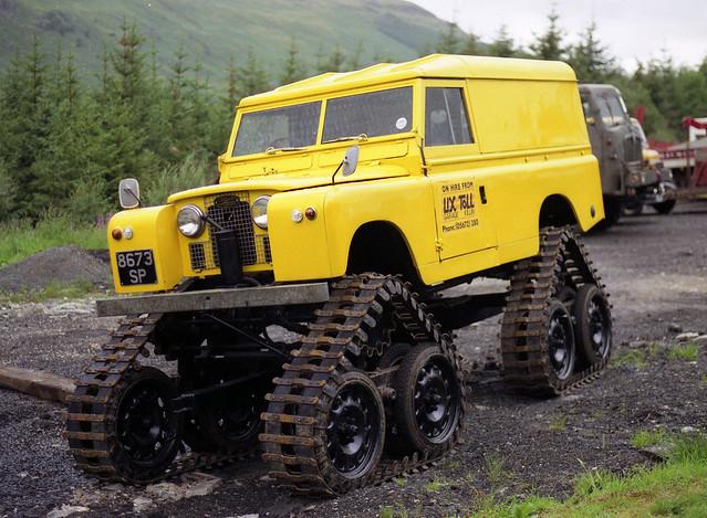 Cuthbertson Tracked Land Rover Series II reg. 8673 SP Near Killin in Scotland