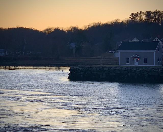 Dusk in Newcastle, Maine.