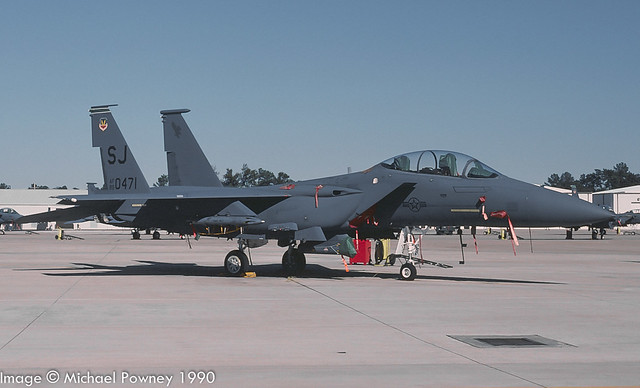 89-0471 - 1989 fiscal McDonnell Douglas F-15E Strike Eagle, at Seymour-Johnson AFB during the 1990 Community Appreciation Day