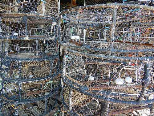 Fisherman's Wharf: stack of crab traps