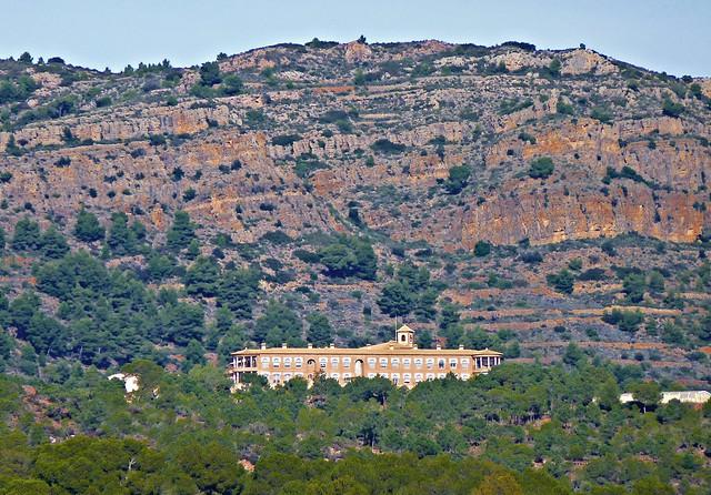 Monasterio de las Carmelitas Descalzas de Serra desde la ermita - Nàquera - València