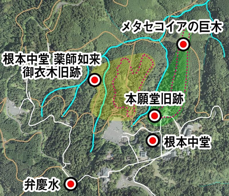 「青き鬼の霊木」_地図_大比叡・東塔・西塔_002_001