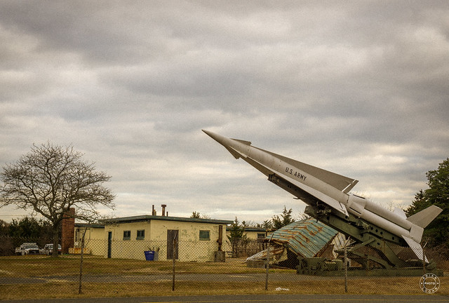 A MIM-4 Nike Hercules missile located at Fort Hancock's Nike Site NY-56