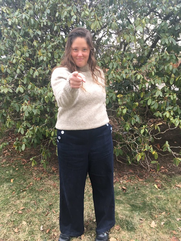 Sailor-Inspired Pants!  Simplicity 8391 in Denim