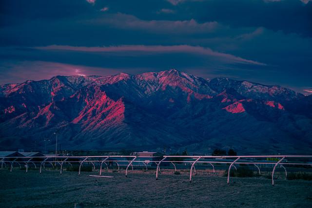 Sunset on Mount Graham