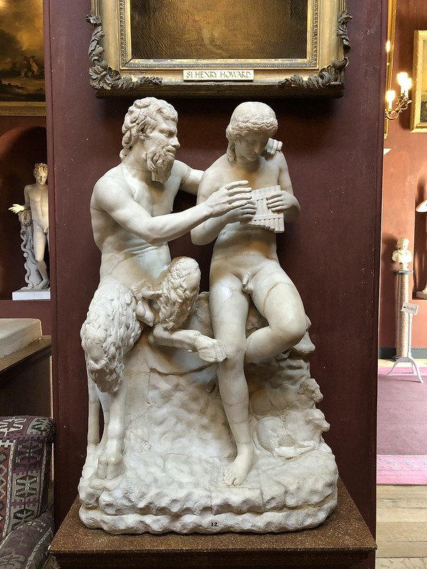 Statue of a Satyr and a young man