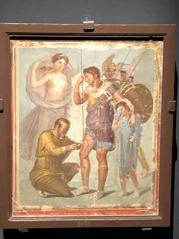 Aeneas being healed by Iapyx