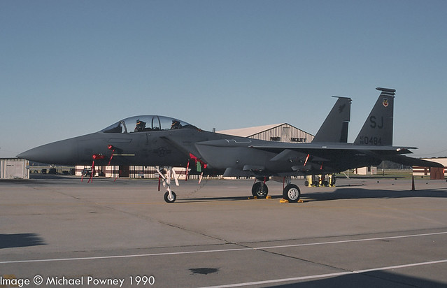 89-0484 - 1989 fiscal McDonnell Douglas F-15E Strike Eagle, at Seymour-Johnson AFB during the 1990 Community Appreciation Day