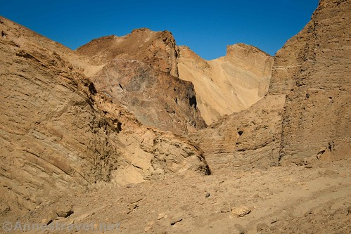 Twists and turns in the canyon make for some interesting rock walls in 20 Mule Team Canyon, Death Valley National Park, California