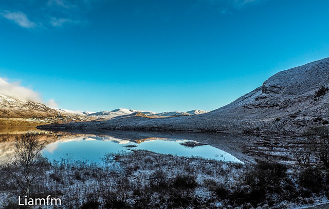 Winter sky reflections
