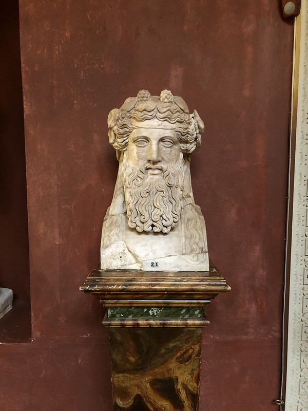 A bust of Bacchus