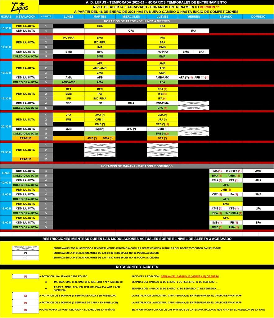 2020-21 HORARIOS ENTRENAMIENTOS V 11
