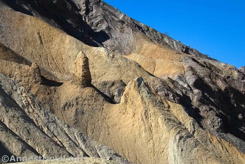 Little hoodoos in the upper part of 20 Mule Team Canyon, Death Valley National Park, California