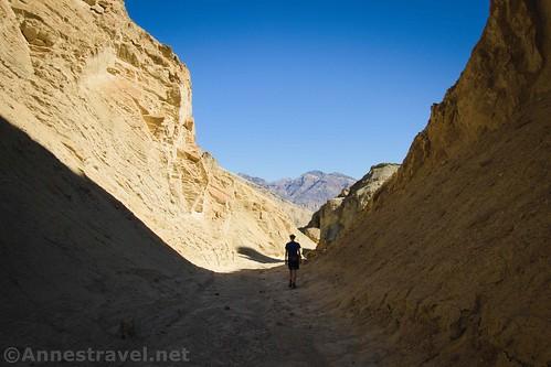 Walking back down toward the trailhead, Death Valley National Park, California