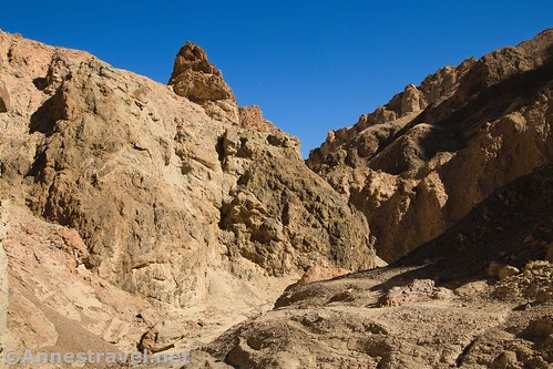 Cliffs and rock formations in 20 Mule Team Canyon, Death Valley National Park, California