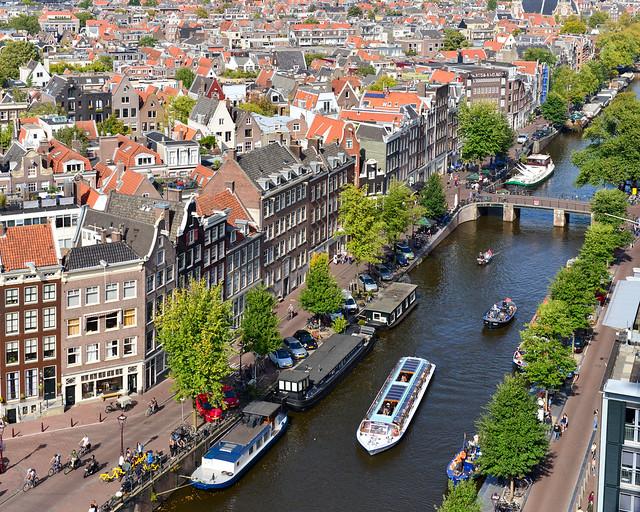 Barrio de Westerkerk en Amsterdam
