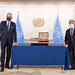 Secretary-General Hosts Ceremony in Honour of President of 75th UN General Assembly