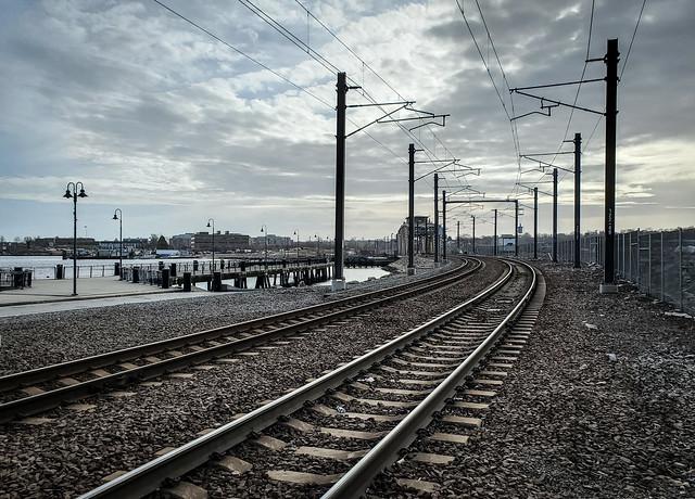 Amtrak into New London