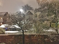 It's snowing in Didsbury! The view from my living room on my iPhone. I love the snow. #snow #didsbury #withington #weather #eyeshootflickr