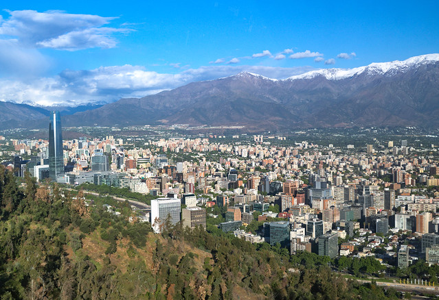 Santiago by the Andes, Chile