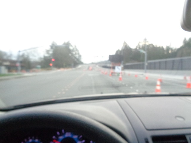 Yeah,I Know , right lane closed ..Typical Bellevue