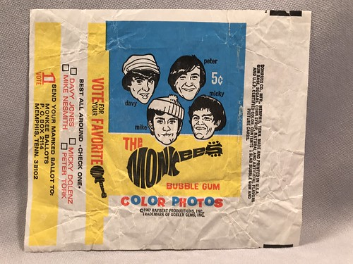The Monkees Donruss 1967 Wrapper