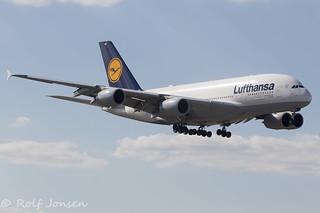 D-AIMD Airbus A380 Lufthansa Miami Airport KMIA 18.03-17