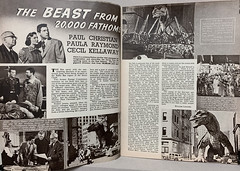 """The Beast From 20,000 Fathoms"" (Warner Bros., 1953).  Article by William Leonard in the British magazine ""Film Review,"" Vol. 3, No. 10, (Oct. 1953)."