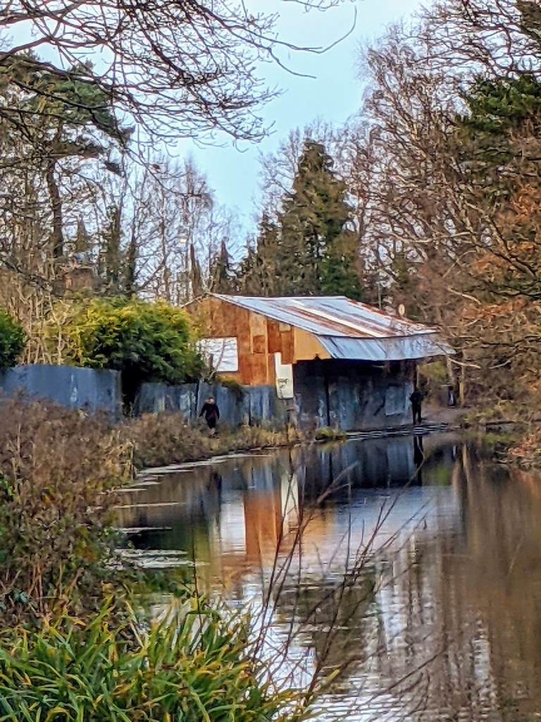 An old tin shed along the canal