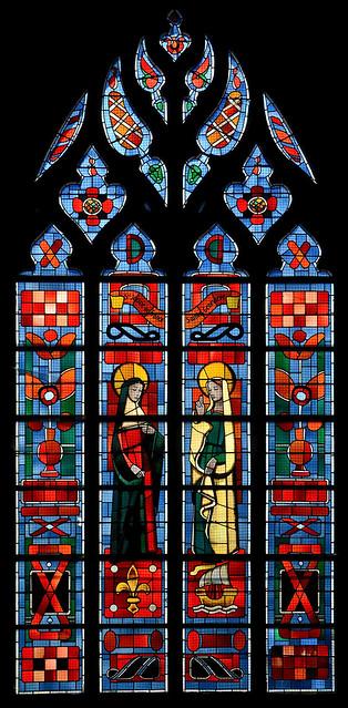 Fougères (Ille-et-Vilaine) - Eglise Saint-Léonard - Vitrail (François Lorin, 1900-1972)