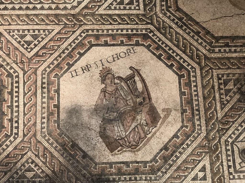 Mosaic Detail of Terpsichore