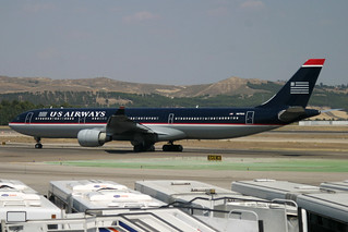 N675US. A-330/300. US Airways. MAD.