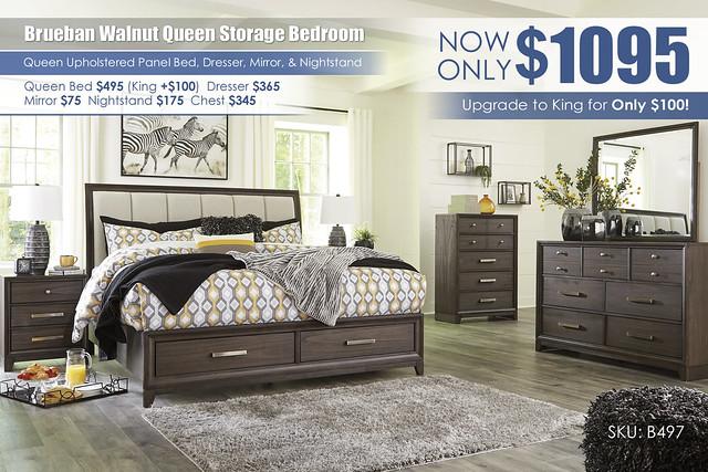 Brueban Walnut Queen Bedroom Set_B497-31-36-46-58-56S-97-93
