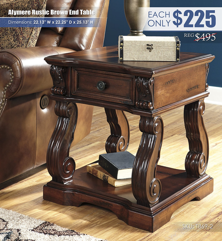 Alymere Rustic Brown End Table_T869-2
