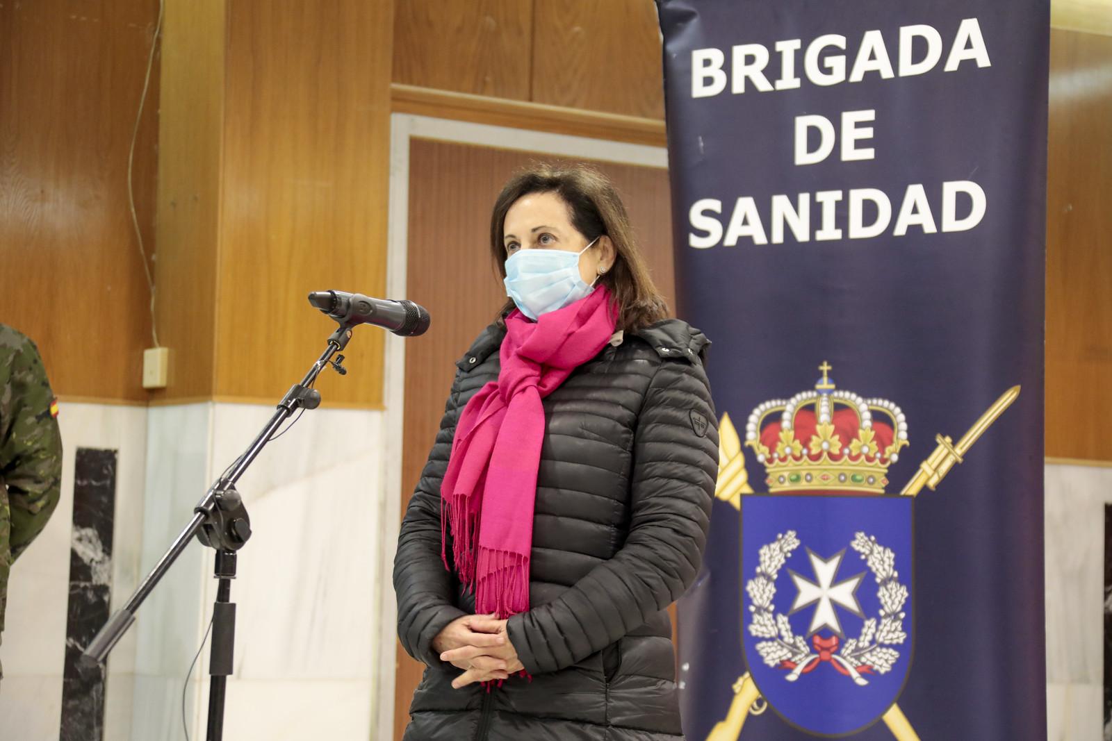 La Brigada de Sanidad informa a la ministra de su intensa intervención en la ola de frío