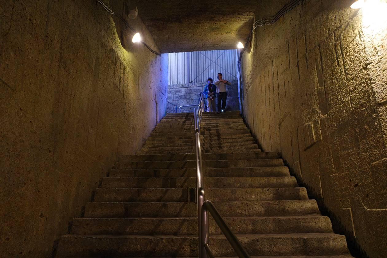大谷資料館 地上への階段