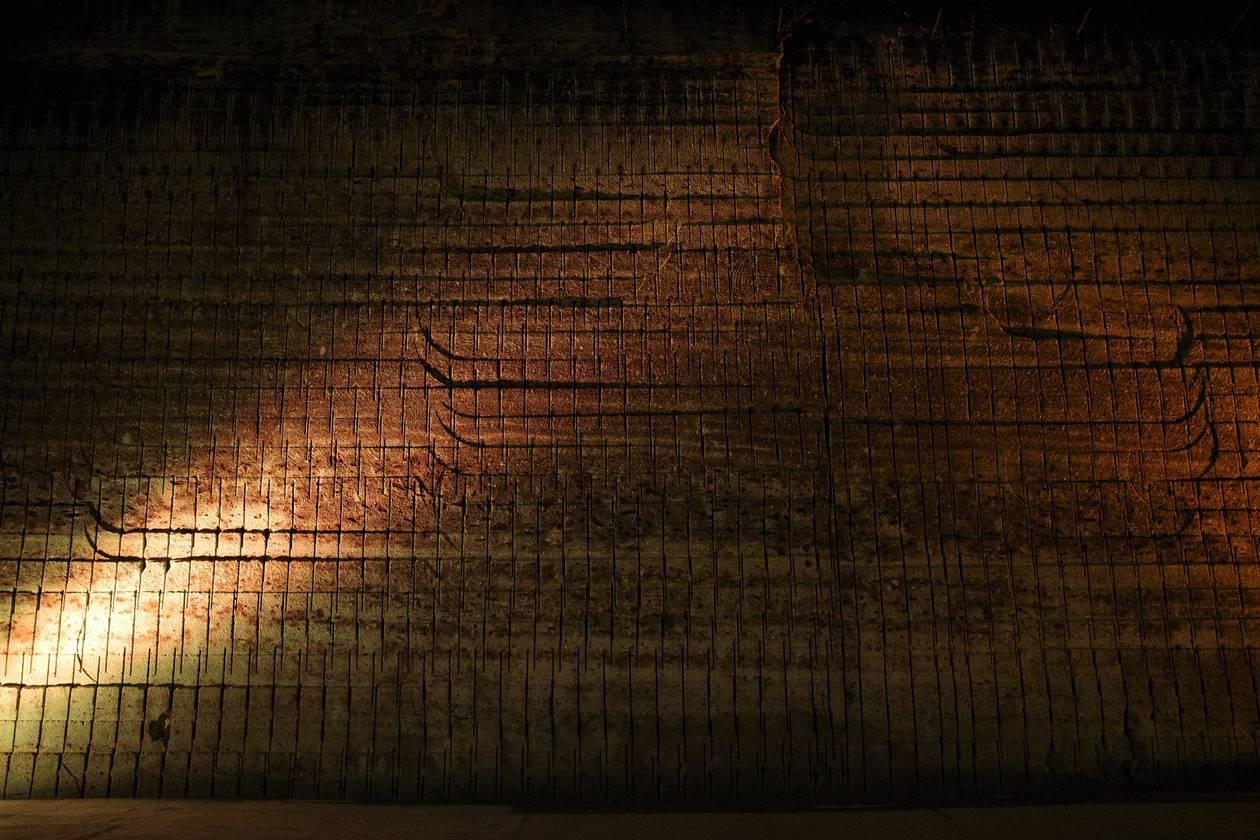 大谷資料館の石壁