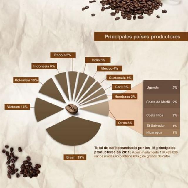 Principales países productores de café