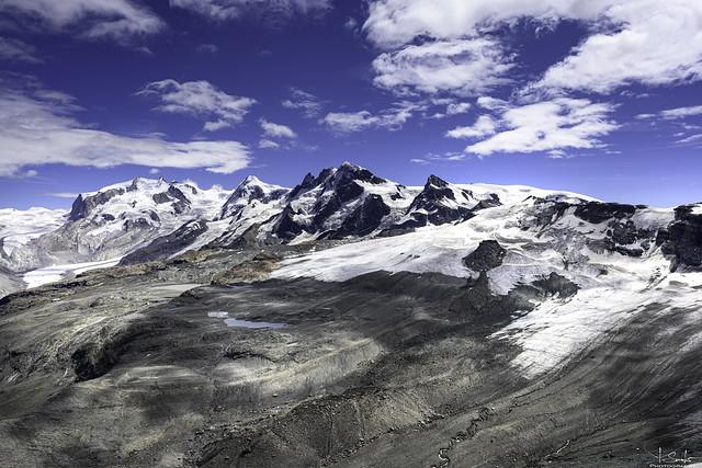Mountain view from Hörnlihütte - Zermatt - Wallis - Switzerland