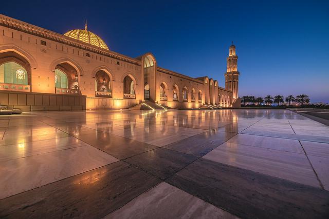 Oman - Sultan Qaboos Mosque Blue Hour