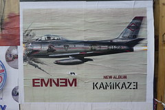 Eminem Kamikaze paste-up, Shoreditch