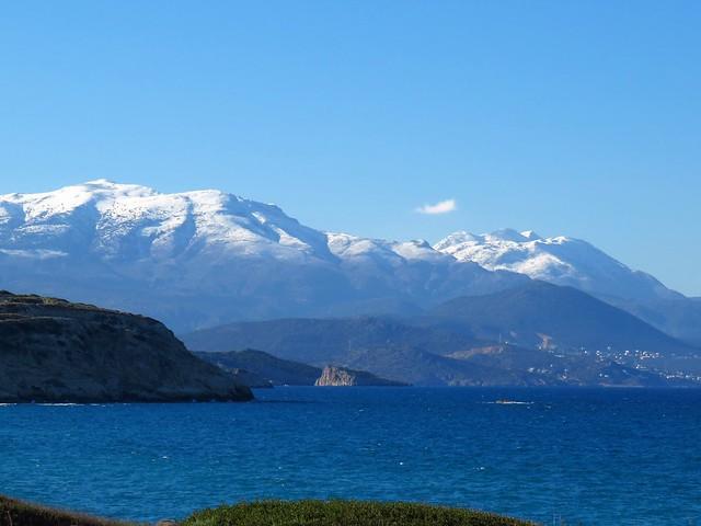 Snowy Dikti mountains.