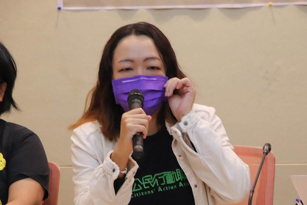 綠色公民行動聯盟秘書長崔愫欣。照片提供:地球公民基金會