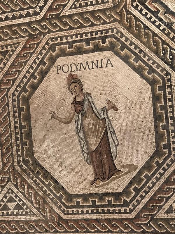 Mosaic Detail of Polyhymnia